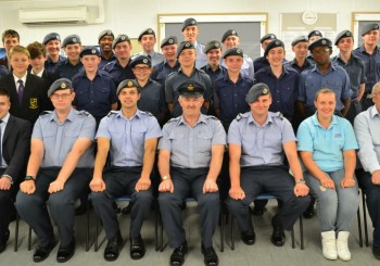 Flt Lt Paul Collins Retires
